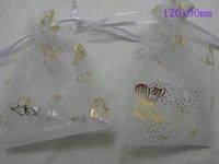 Мешочек для ювелирных изделий 300pcs white butterfly wedding favor gift bags+ Gift