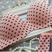Комплект нижнего белья For women B022# Glossy One Piece Seamless Bra Push Up Tube Top Dot Design Bras Siere Underwear Sexy Bra Set