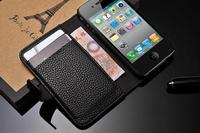 Чехол для для мобильных телефонов Litchi texture leather mobile phone case for iphone4 4s, High-quality PC leather phone case, Noble and stylish atmosphere holster
