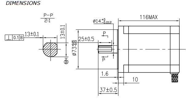 aliexpress buy 1pcs nema 34 stepper motor 34hs1456 1232 oz in 116mm length 5 6a cnc from