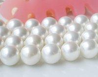 10 мм белый круглый море оболочки жемчужина мяч бусины strand, потерять shamballa браслет Бусины для изготовления ювелирных изделий, 5шт