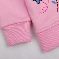 Retail! F4329# New 2014 Nova baby clothing outwear 100% cotton baby girls kids jackets coats outwear peppa pig Children Hoodies