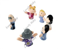 Перчаточная кукла holiday sale 6pcs Family Finger Puppet, Kids Finger toy, finger doll, Baby stories helper doll Christmas 6129