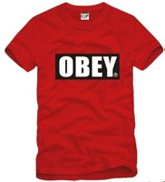 Мужская футболка high quality obey t shirt men obey shirt mens obey t shirts women t-shirts 100% cotton 6 colors