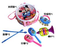 Детский музыкальный инструмент New Lovely Cute 5PCS Roll Drum Musical Instruments Band Kit Kids Children Toy Gift Set