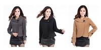 Женская куртка spring autumn winter ladies wool jacket short design wool coat plus size outerwear