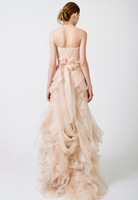 Платье знаменитостей 2013 New Sexy One Shoulder Gossip Girl Blair's Bridemaids Dress Organza Mermaid Celebrity Dresses
