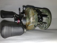 Катушка для удочки Baitcasting fishing reel BA 30 4+1BB Light camouflagecolor aluminum Spool and frame right hand style