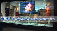 Потребительская электроника 1.524m*2m Dark grey projection film rear projection membrane projector screen transparent film