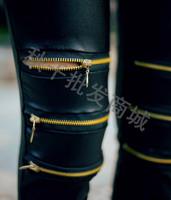 Кожезаменитель колено 3 молнии Леггинсы зимние утолщение Руна теплых render брюки lg-003