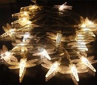 энергосберегающие света строка 5m 40leds ac 110v теплая Белая стрекоза свет напольного украшения строка света