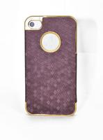 Чехол для для мобильных телефонов New Deluxe Leather Chrome Case Cover skin for iPhone 4 4S