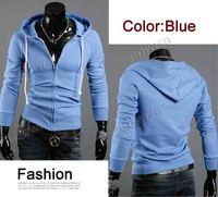 Мужская толстовка New Korea Fashion Stylish Slim Fit Men's Hoodies Long Sleeve Jackets Coats Hoodie Zip 8 Color 4 Size 8144