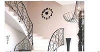 New Modern Interior Design Deco Decal DIY Wall Clock /Blue, fashion Quartz wall clock Free Shipping