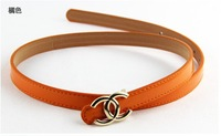 Ремни и Камербанды 2013 women fashion Belt c decoration female all-match thin belt 9 Candy Color 2 pcs/lot
