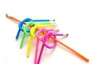 Офисные и Школьные принадлежности Novelty, 18cm colorful flexible bendy soft pencil