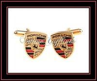 Запонки и зажимы для галстука Intime fashion gift articles enamel car logo POSCHE cufflinks