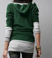Женские толстовки и Кофты on Blend Slim Fit Women Long Hoodie Sweatshirt Sweater Coat Jacket Size M, L, XL, 2XL, 3XL