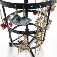 Дисплей для ювелирных изделий Rotatable 72 holes Metal Earrings Jewelry Display Stand Holder Show Rack Hanger[000314