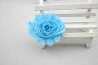 "Детский аксессуар для волос 2"" shabby chiffon flower Frayed fabric flowers hair accessories clothing accessories 9 colors"