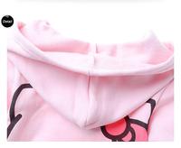 Новые прибытия повседневные длинные молнии капюшоном девочек кофты moleton infantil детей свитер Привет Китти девочек Толстовки
