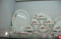 YC157 Bone China Jingdezhen Cutlery set 56 bowl Porcelain tableware Eagle Gold Chrysanthemum