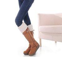 Супер женщины платформы круглый носок колено высокие сапоги долго теплая обувь 2way износ 4color доступны