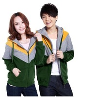 Женские толстовки и Кофты Fashion Lovers Patchwork Zipper Hooded Sweater Women's Hoodie Coat Outerwear Men's Coat