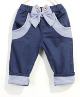 Free shipping 5pcs Children's casual shorts Boys/girls shorts Colour: Beige Blue Size: 90-130