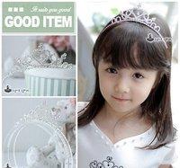 Детский аксессуар для волос Hot Kids Hair Accessories Children Crown Heart-shaped Hair Bands Girls Hair Bands 12pcs/lot