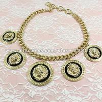 Колье-цепь Lion Head Statement Necklace Choker Chain Jewelry Theme Bold