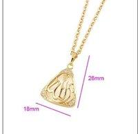 Ювелирная подвеска mini order $10 18K Golden Pendant, Islamic Muslim Allah, and Necklace #PE120650000042