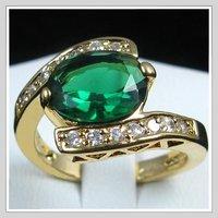 Кольцо Versandkostenfrei & neue fingerring hei esten! Versandkostenfrei 18k gelbgold gp smaragdring # 8