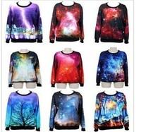 или розничных моды женщин/мужчин pulovers двойной печати kaboom 3d свитер дамы пространства галактики кофты толстовки верхней