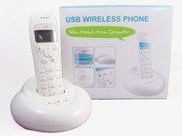Телефон для звонков в skype Wireless 50M Cordless VoIP Skype Telephone Phone White