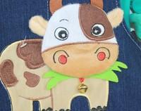 Комбинезон для мальчиков New 2013 Autumn children clothing baby bib pants hot-selling cow denim bib overalls kids for1-3 years