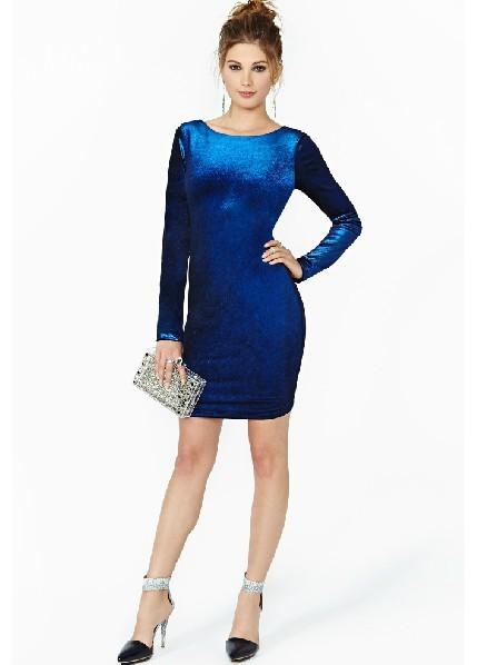 Бархатные синие платья