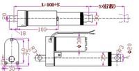 Механические детали hot! 12V micro linear actuator, 300mm stroke electric linear actuator, Customized stroke
