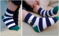 Носки для мальчиков 6pair/lot Spring Fall kids cute color stripe cotton socks children aged 2-12 boys and girls a variety of styles