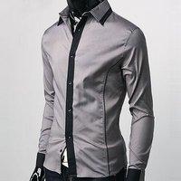 Мужская повседневная рубашка Slim Fit