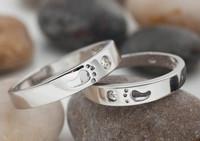 Новая мода след взаимодействие титана кольцо обручальные кольца для женщин и мужчин ювелирных изделий