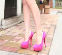 Туфли на высоком каблуке ine suede high-heeled 14cm waterproof nightclub high-heeled shoes1624