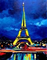 магнитные открытки сувениры масляной живописи Эйфелева башня сувенир, 148 * 105 мм
