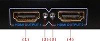 Конденсатор 1X2 HDMI Amplifie Splitter HD AV V1.3 1080p HDCP 1 Input 2 OutputRetail Acc Brand New