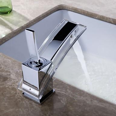 waterfall chromed polished bathroom basin sink faucet mixer tap brass taps n0087 83. Black Bedroom Furniture Sets. Home Design Ideas