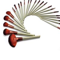 Кисти для макияжа 24 PCS Professional leopard print Makeup Cosmetic Brush set Kit Case
