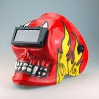 Сварочная маска Solar Auto Darkening Welding Helmet Filter Skull Shape + 4pcs replacement Inside Lens Covers