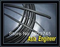 Электроизоляционный материал 5x 1mm Dia. Black Heat Shrinkable Tube Shrink Tubing 6M