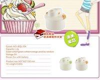Мороженица New fashion mini household ice cream machine, orange/green, /Retail