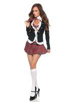 Женский эротический костюм sexy party dress, schoolgirl sexy, sexy schoolgirl uniform size M GLB5107